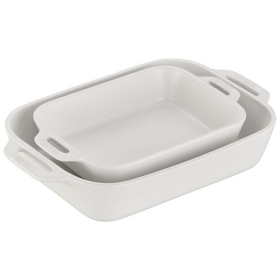 2-pc Rectangular Baking Dish Set - Matte White,,large