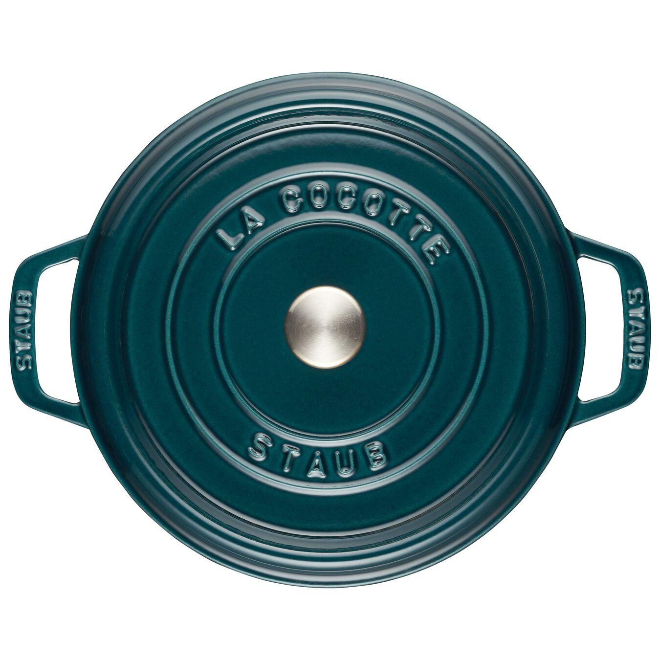 Cocotte en fonte 24 cm / 3,8 l, Rond, Blue La-Mer,,large 2