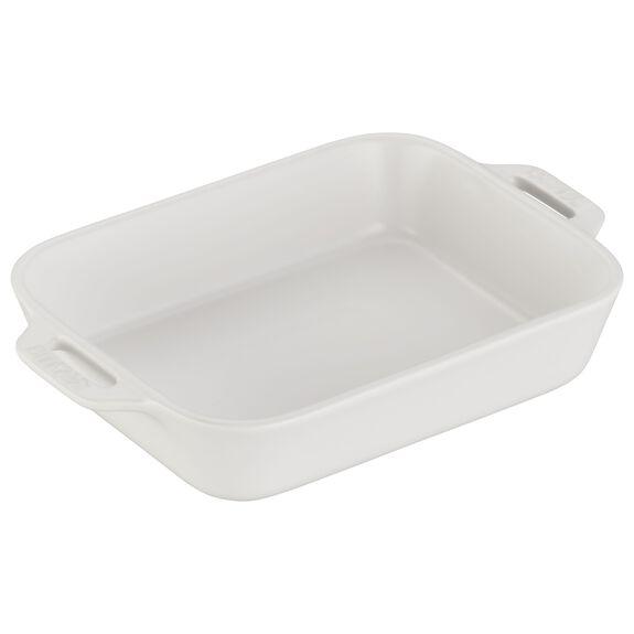 7.5-inch x 6-inch Rectangular Baking Dish - Matte White,,large