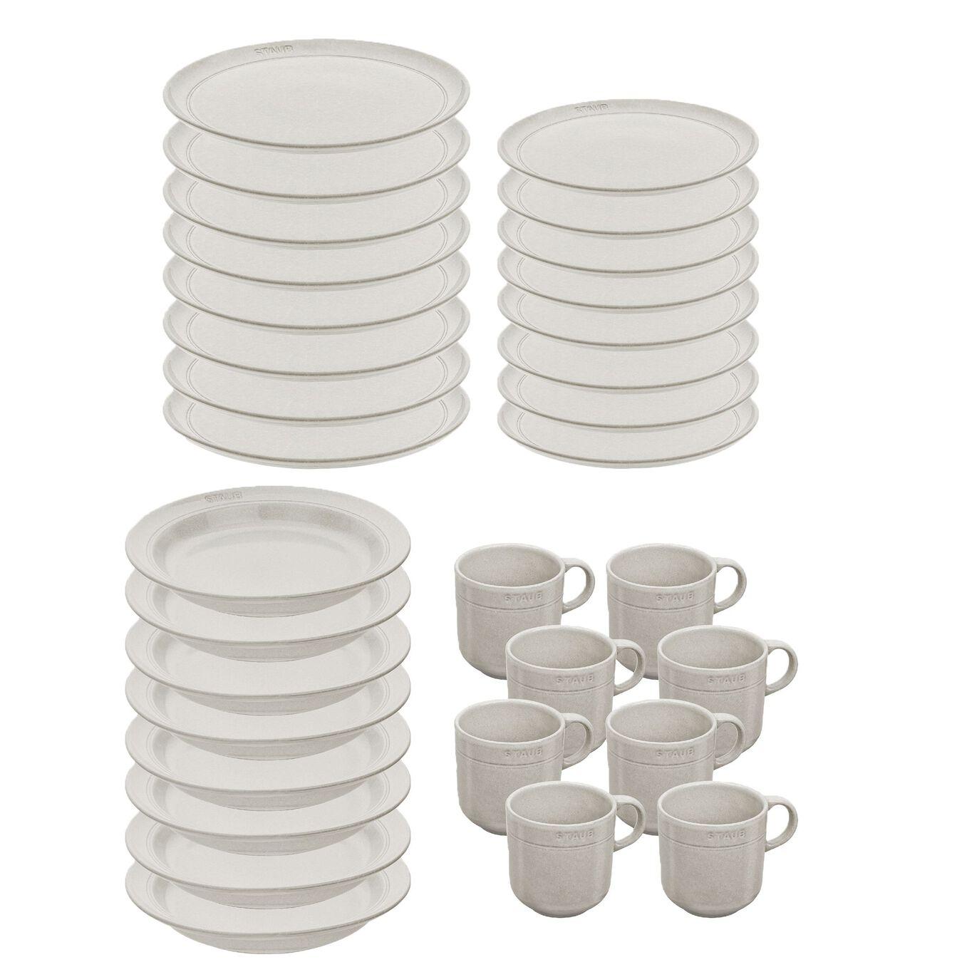 Set de service, 32-pcs | White Truffle | Ceramic | Ceramic,,large 1