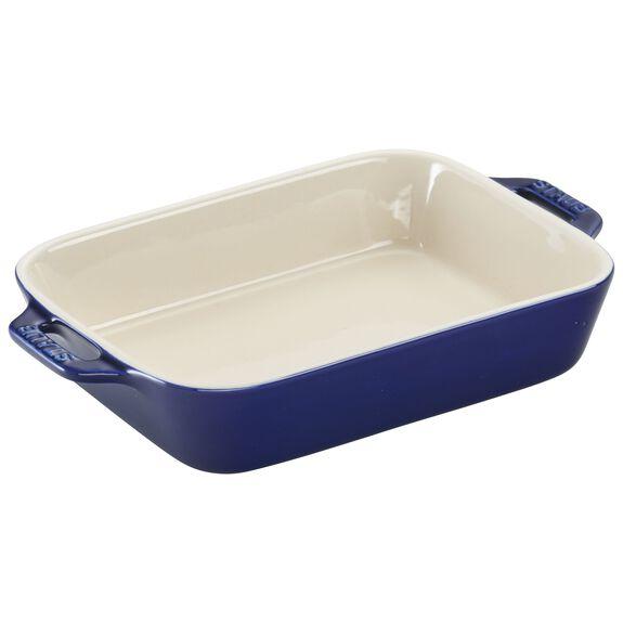 """7.5x6"""" Rectangular Baking Dish, Dark Blue, , large"""