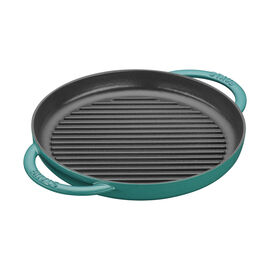 Staub Cast Iron, 10-inch Pure Grill - Turquoise