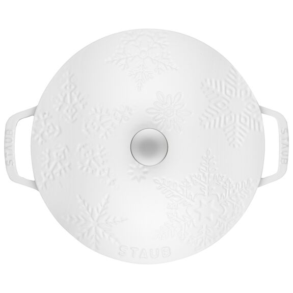 3.75-qt round French oven, White,,large 3