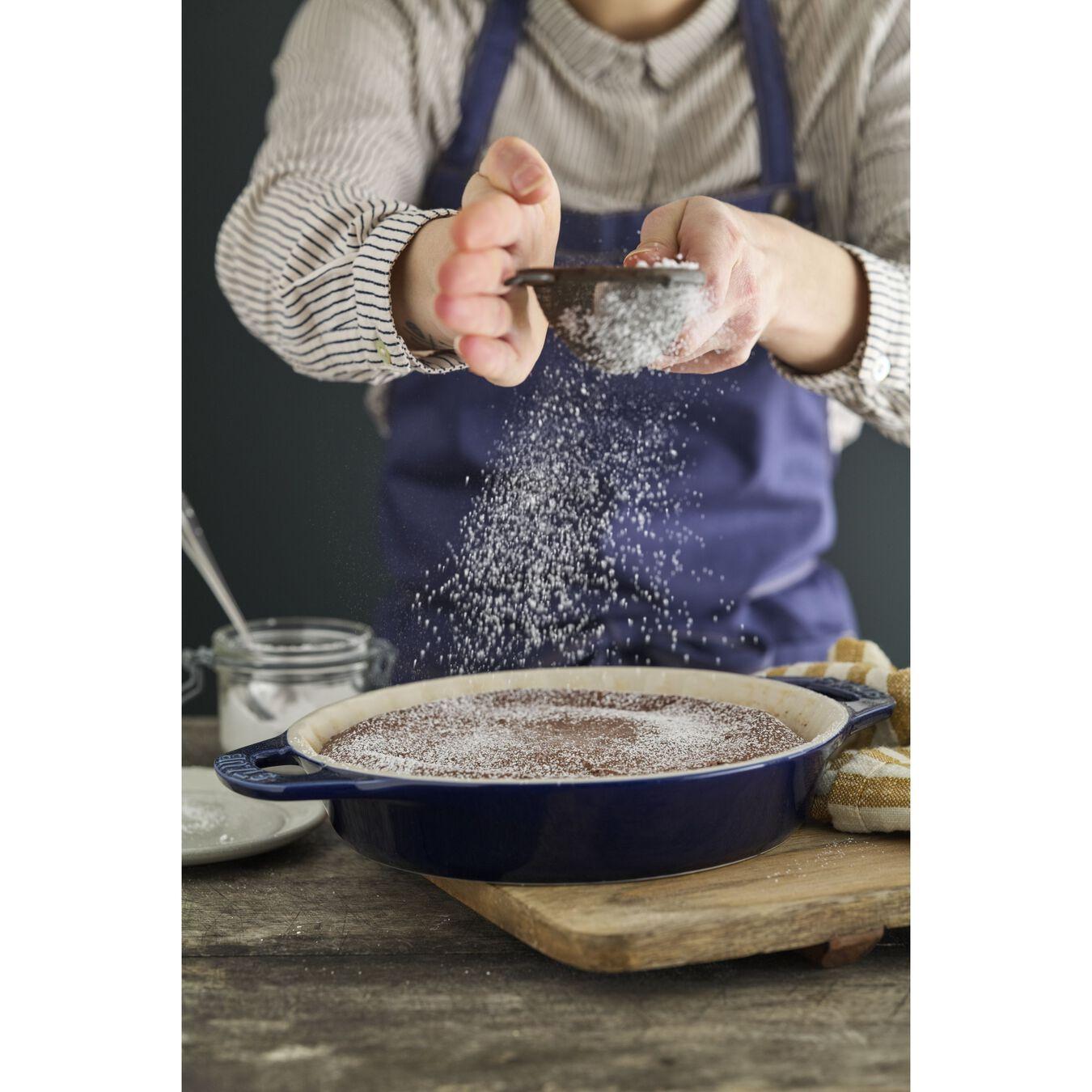 9-inch, Pie dish, dark blue,,large 2