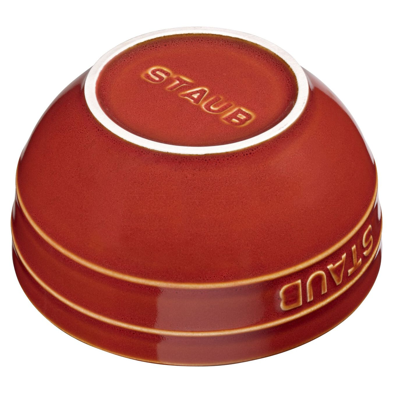 14 cm Ceramic round Bowl, Ancient-Copper,,large 2