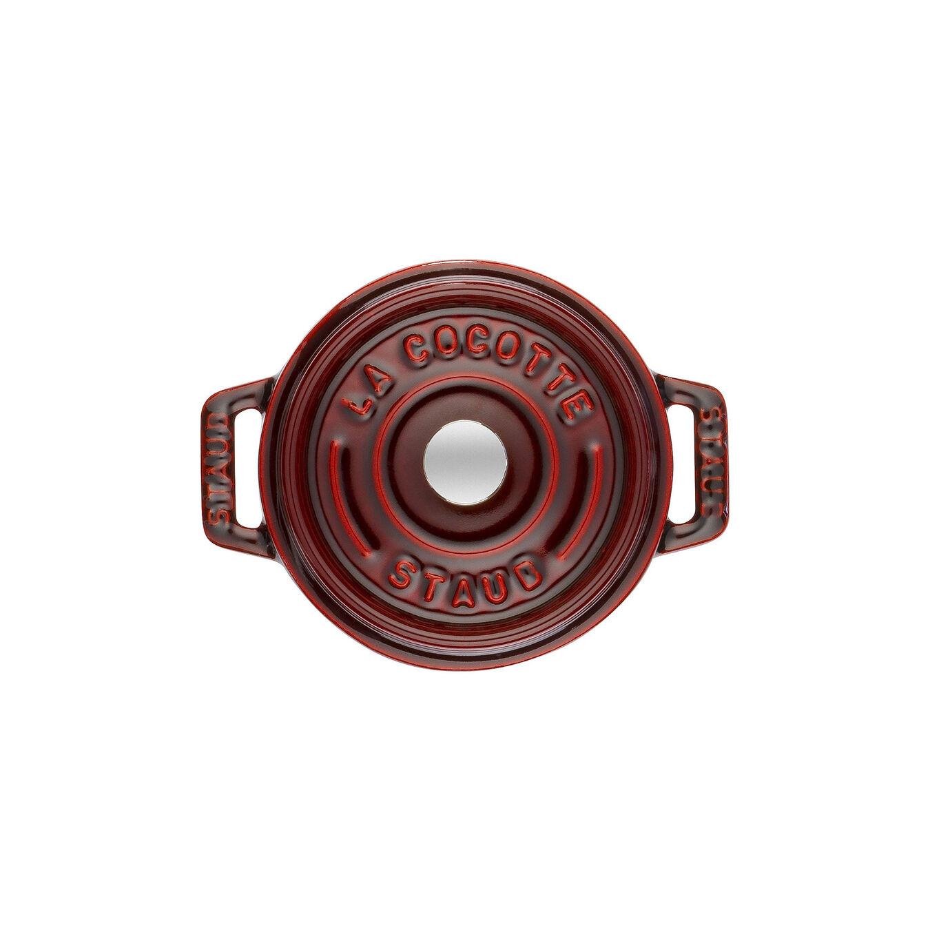 Mini cocotte rotonda - 10 cm, granatina,,large 2