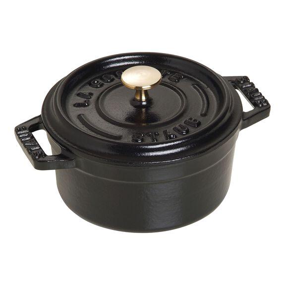 0.25-qt Mini Round Cocotte - Matte Black,,large