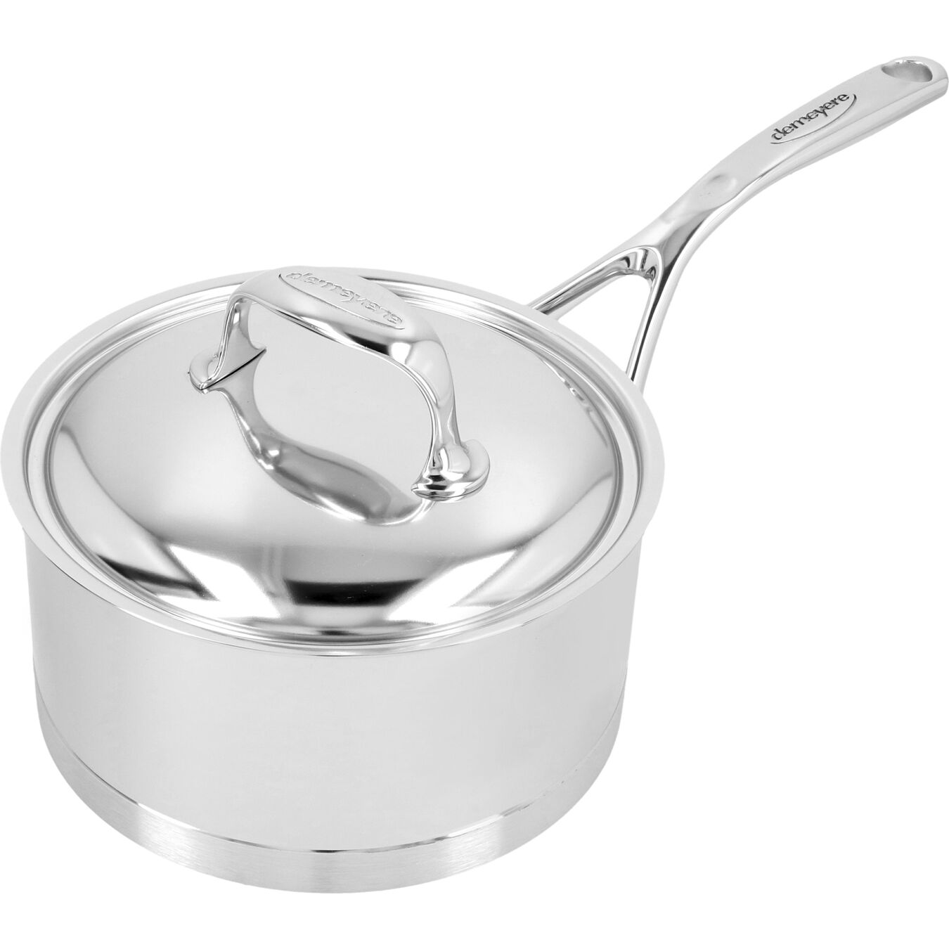 2.25 qt Sauce pan with lid, 18/10 Stainless Steel ,,large 3