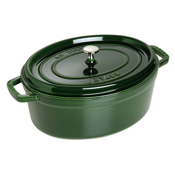 7.08-qt oval Cocotte, Basil - Visual Imperfections,,large