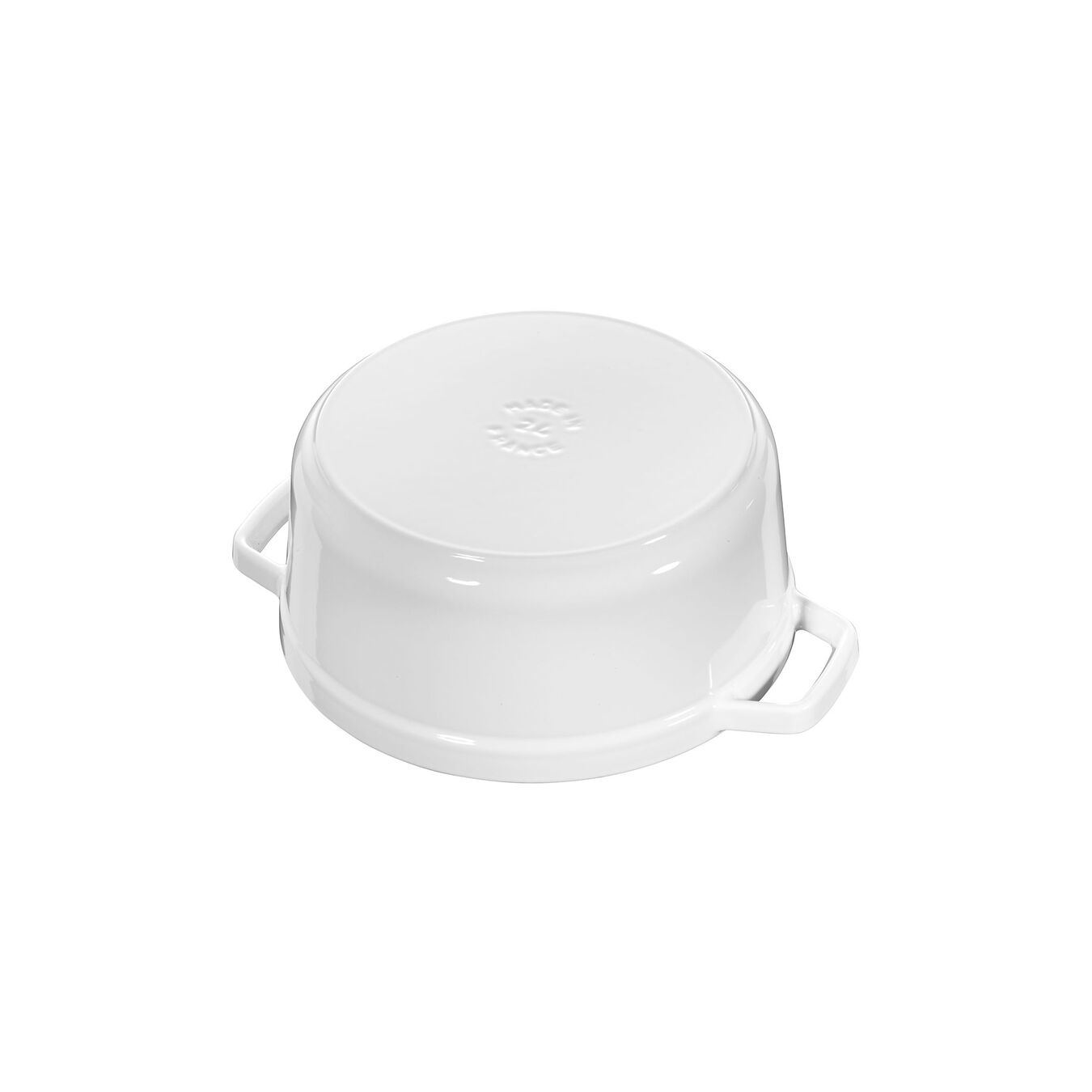 Cocotte rotonda - 26 cm, Colore bianco puro,,large 2