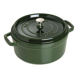 Staub Cast Iron, 4-qt Round Cocotte - Basil