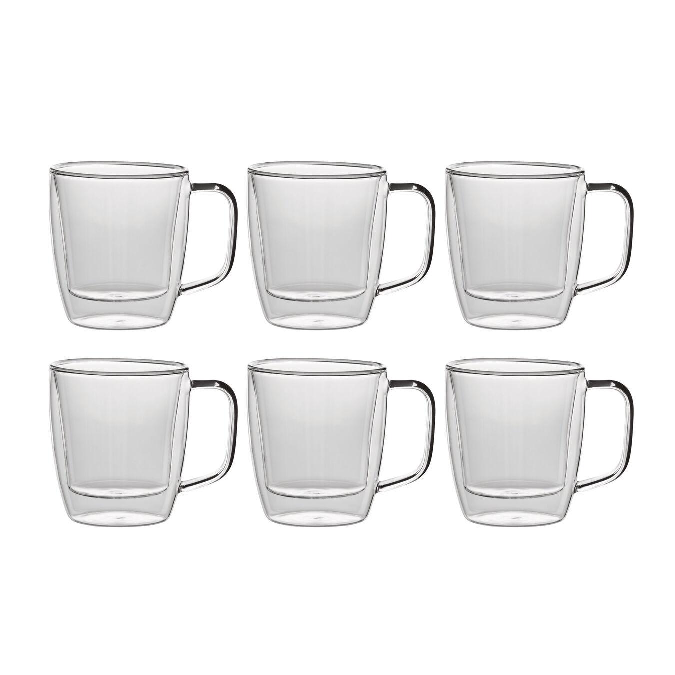 6 Piece Double-Wall Coffee Mug Set,,large 1