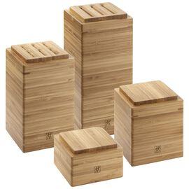 Aufbewahrungsgefäß Set, 4-tlg | Bambus | quadratisch