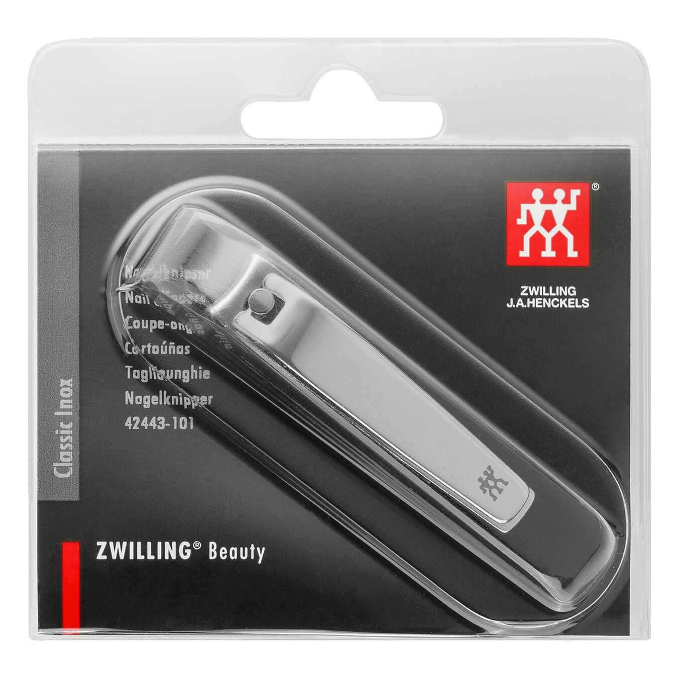 Nail clipper, polished   6 cm   Silver,,large 2