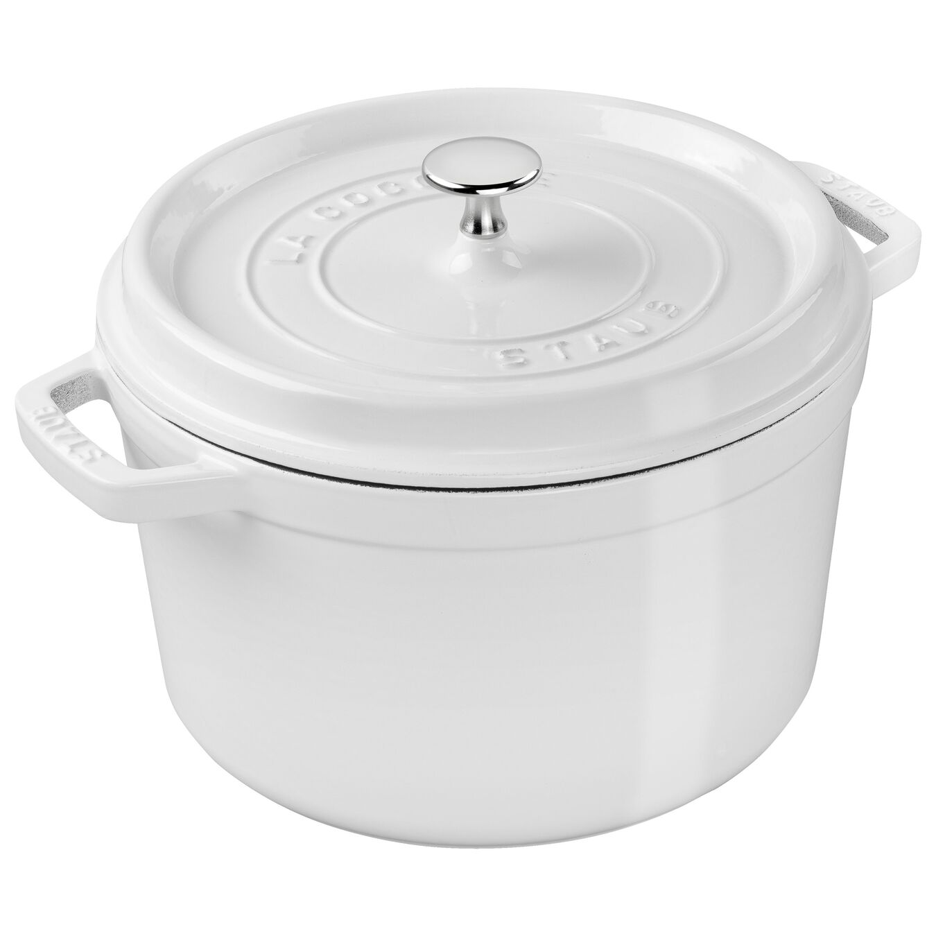 5 qt, round, Tall Cocotte, white,,large 2