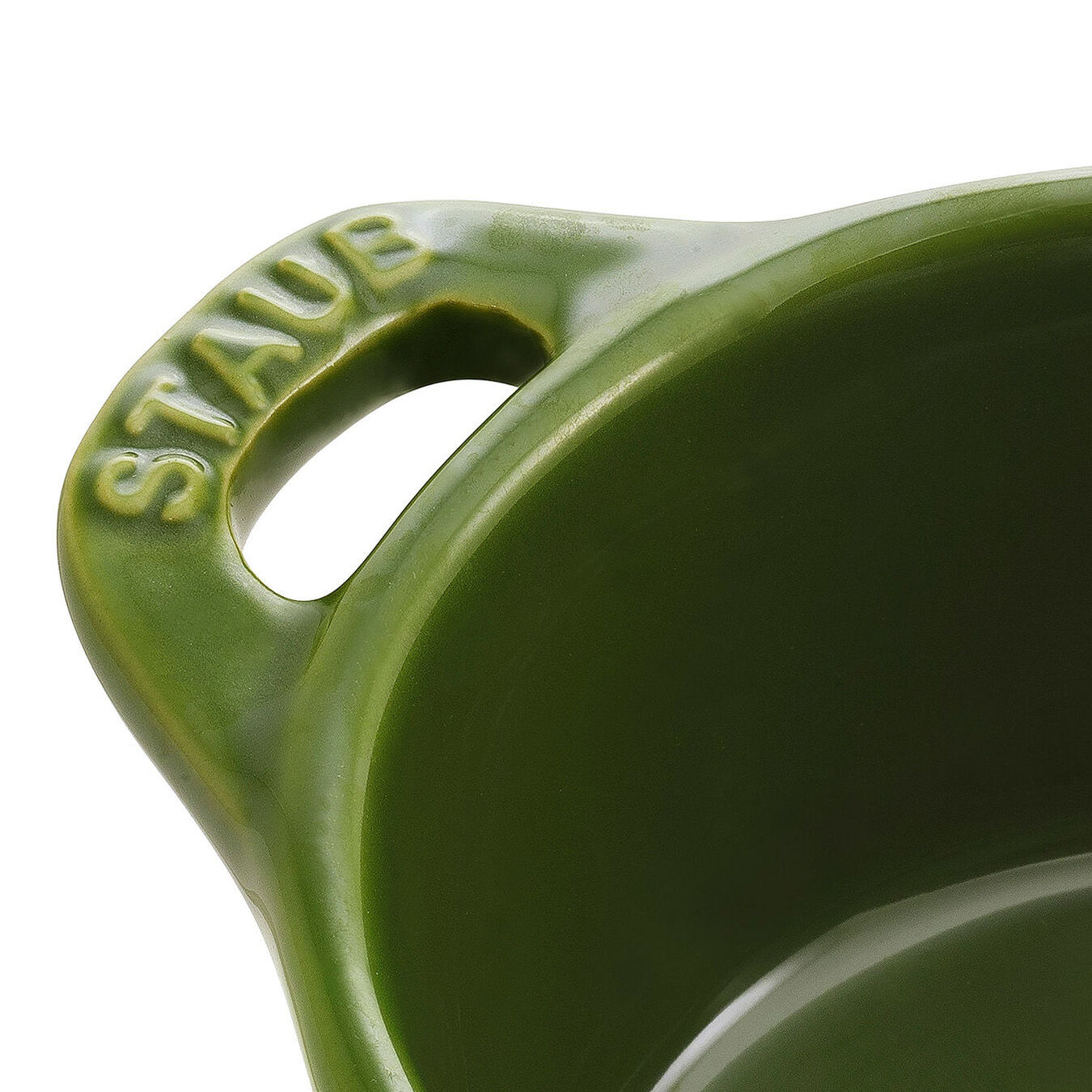Mini Cocotte 10 cm, rund, Basilikum-Grün, Keramik,,large 4