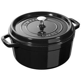 Staub La Cocotte, 4 qt, round, Cocotte, shiny black