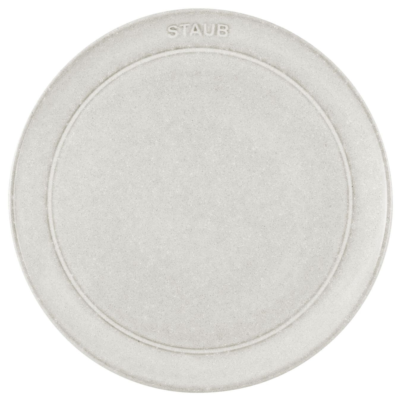 20 cm Ceramic round Plate flat, White Truffle - Visual Imperfections,,large 2