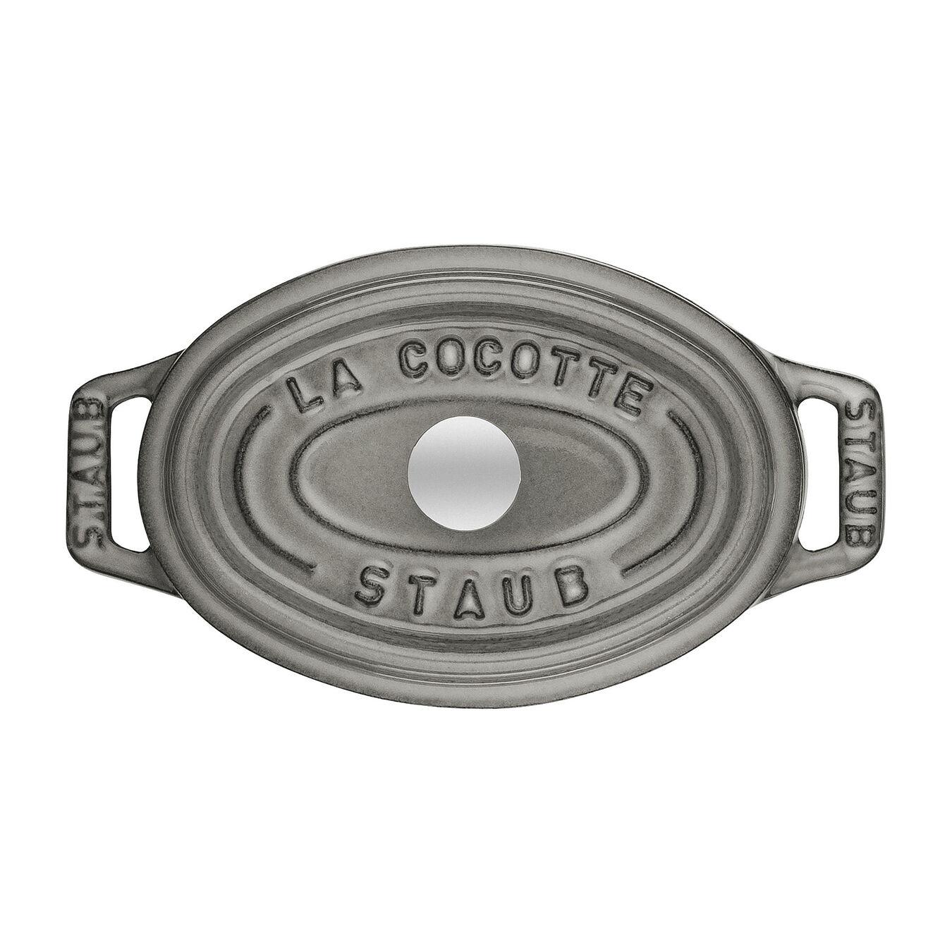 Mini cocotte ovale - 11 cm, grigio grafite,,large 2