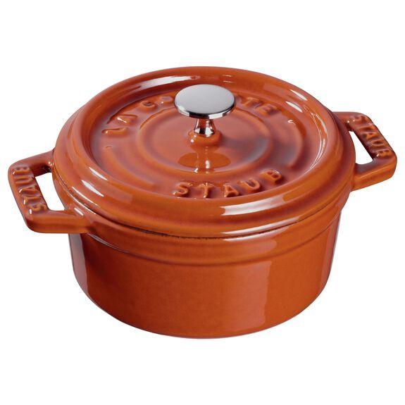 4-inch round Mini Cocotte, Burnt Orange,,large 3