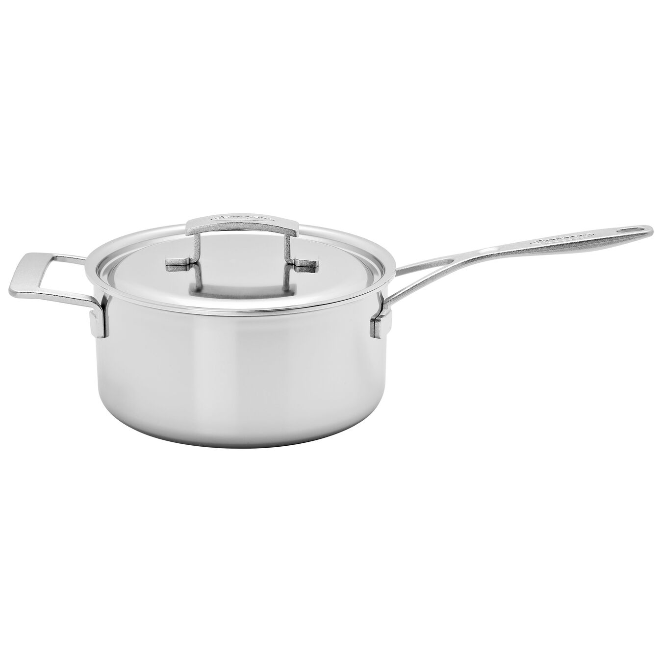 4 l 18/10 Stainless Steel round Casserole with lid, Silver,,large 2