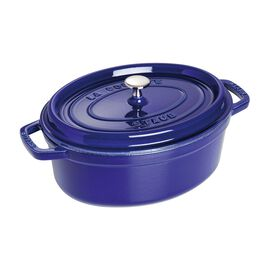 Staub Cast iron, 3.5-qt-/-27-cm oval Cocotte, Dark-Blue