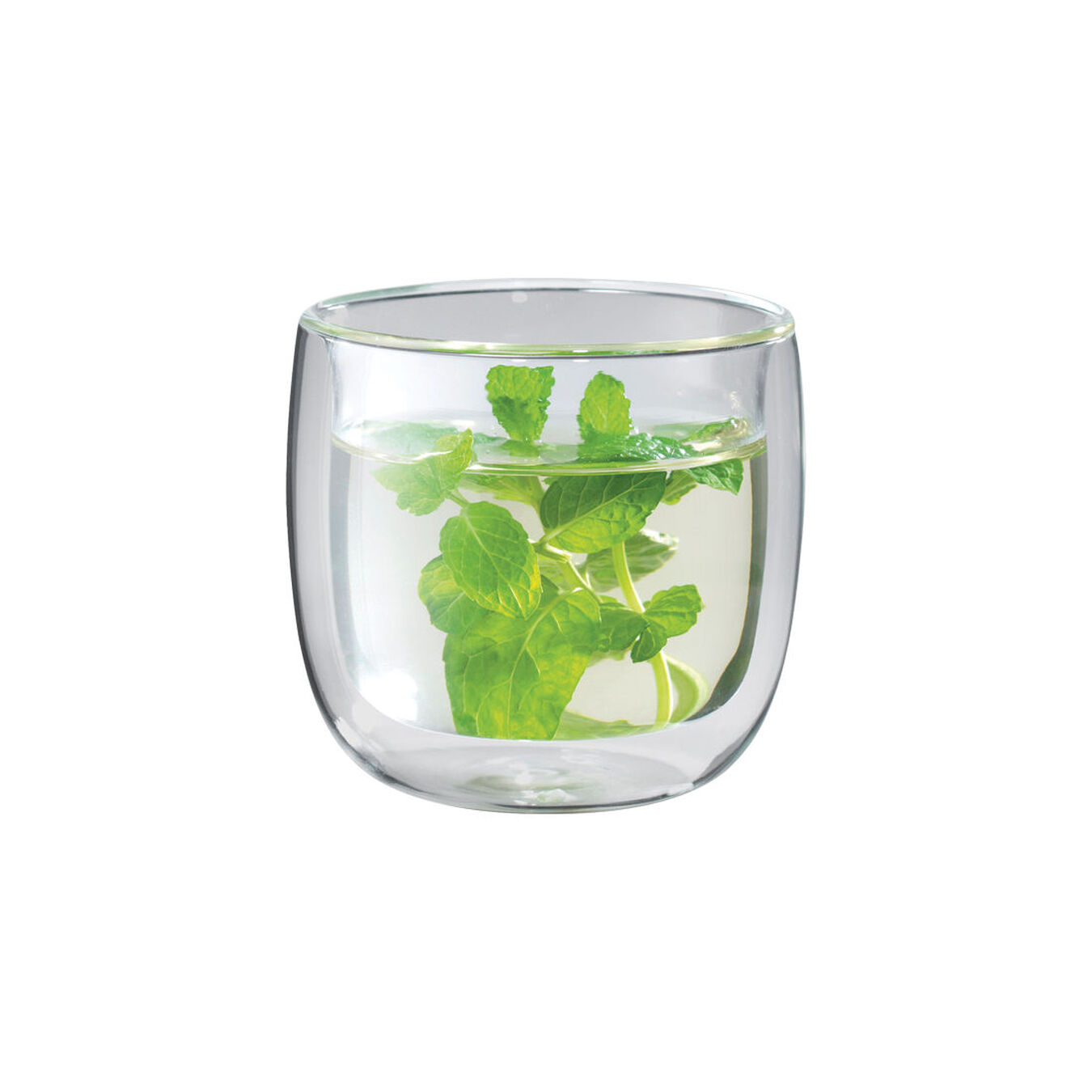 2-pc Tea glass set, Double wall ,,large 1