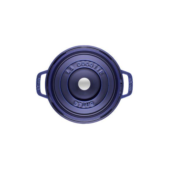 Döküm Tencere, 22 cm | Koyu Mavi | Yuvarlak | Döküm Demir,,large 3