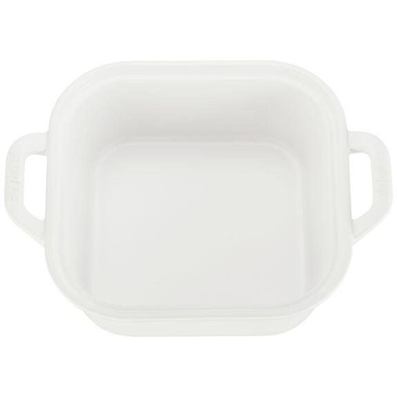 Ceramic Square Covered Baking Dish, Matte White,,large 4