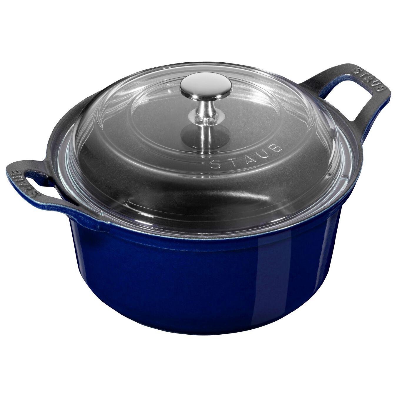 2.5 qt, La Coquette with lid, dark blue,,large 1