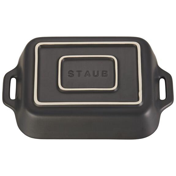 7.5-inch x 6-inch Rectangular Baking Dish - Matte Black,,large 2