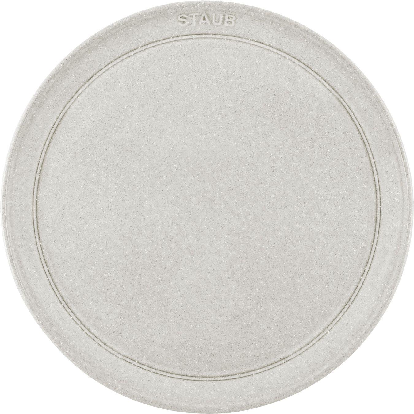 Teller flach 26 cm, Keramik, Weisser Trüffel,,large 2