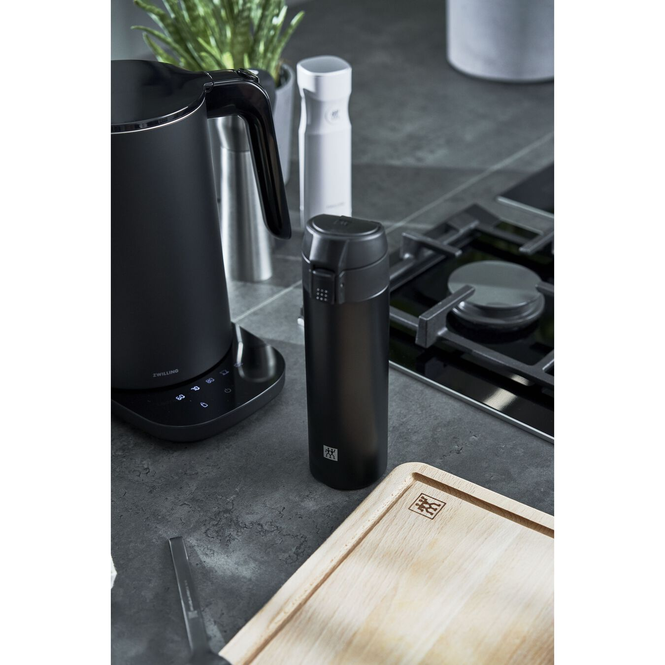 Thermos flask, 450 ml | Black,,large 7