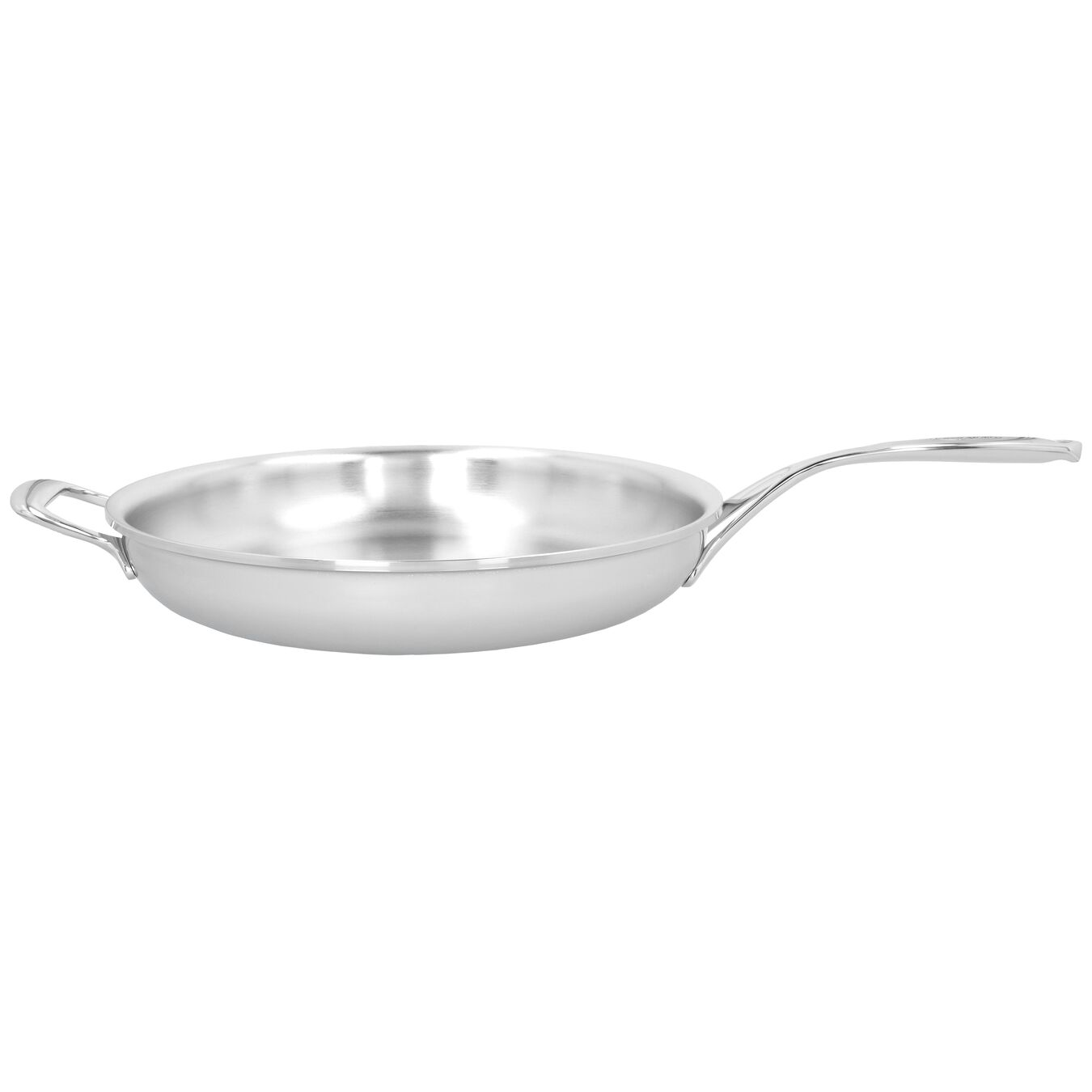 12.5-inch, 18/10 Stainless Steel, Proline Fry Pan with Helper Handle,,large 1
