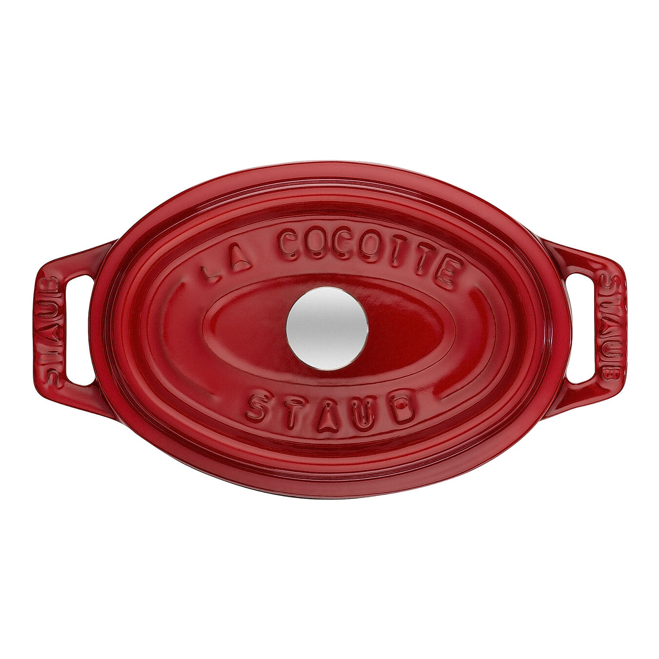 250 ml Cast iron oval Mini Cocotte, Cherry,,large 2