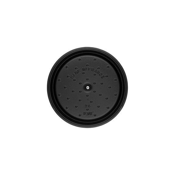4-qt Round Cocotte - Matte Black,,large 9