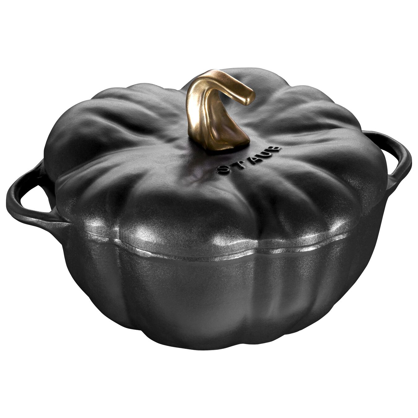 3.75 qt, pumpkin, Cocotte, Black Matte,,large 1