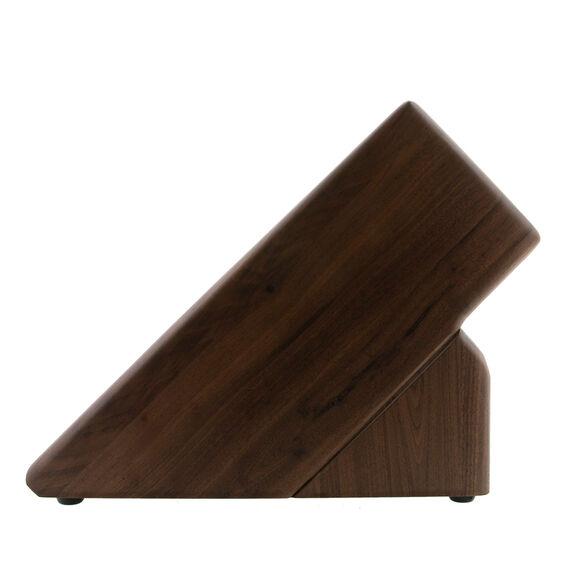 Knife block empty Walnut,,large 4