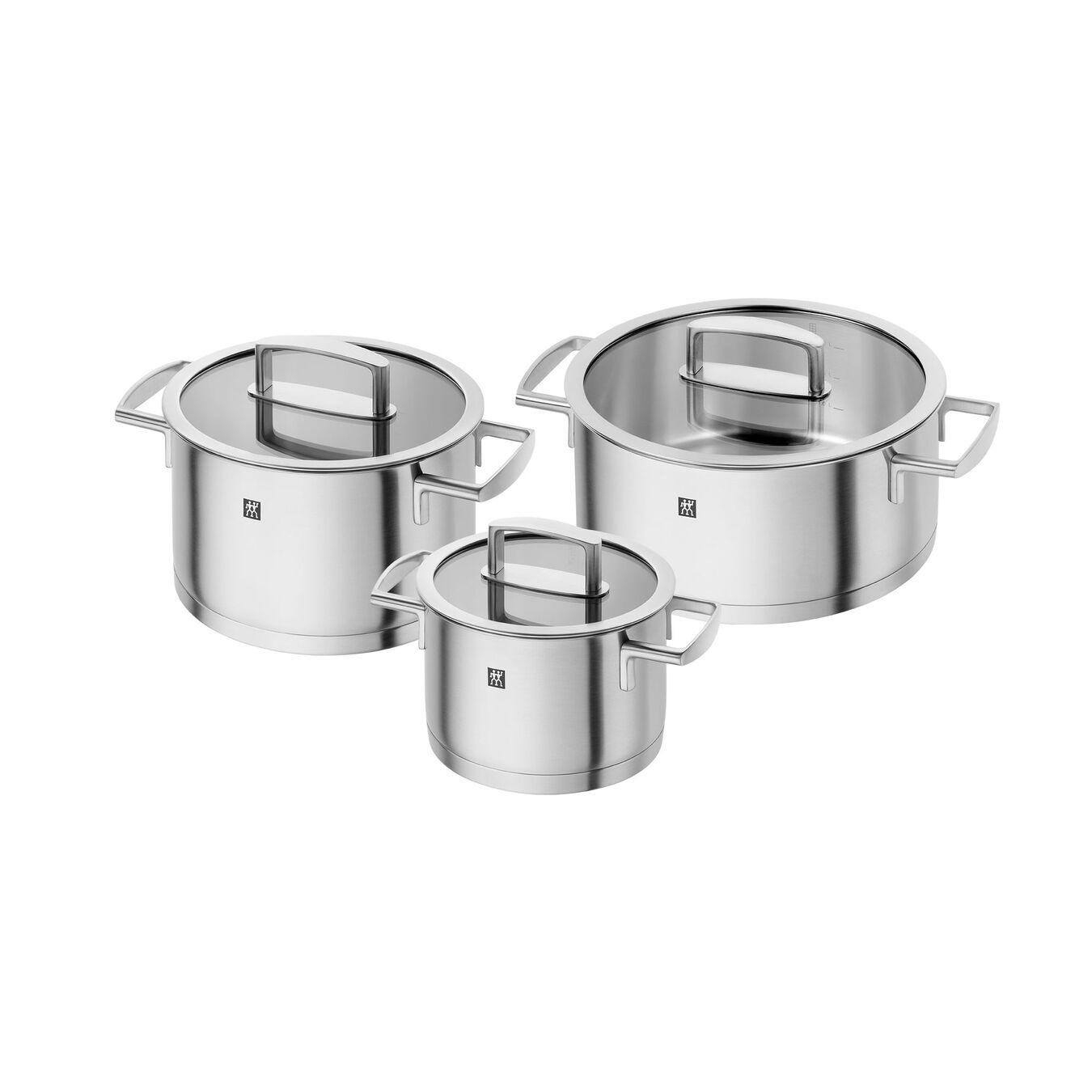 Ensemble de casseroles 3-pcs, Inox 18/10,,large 1