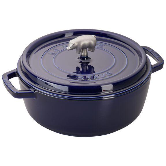 6-qt round Cocotte, Dark Blue,,large 2