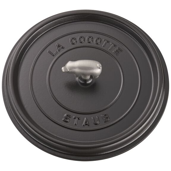 6.25-qt round Cocotte shallow, Graphite Grey,,large 6