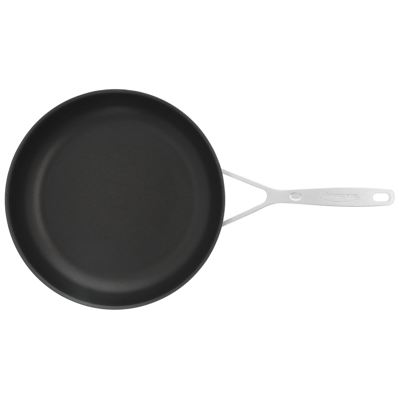 Poêle 28 cm, Inox 18/10, Noir argenté,,large 5