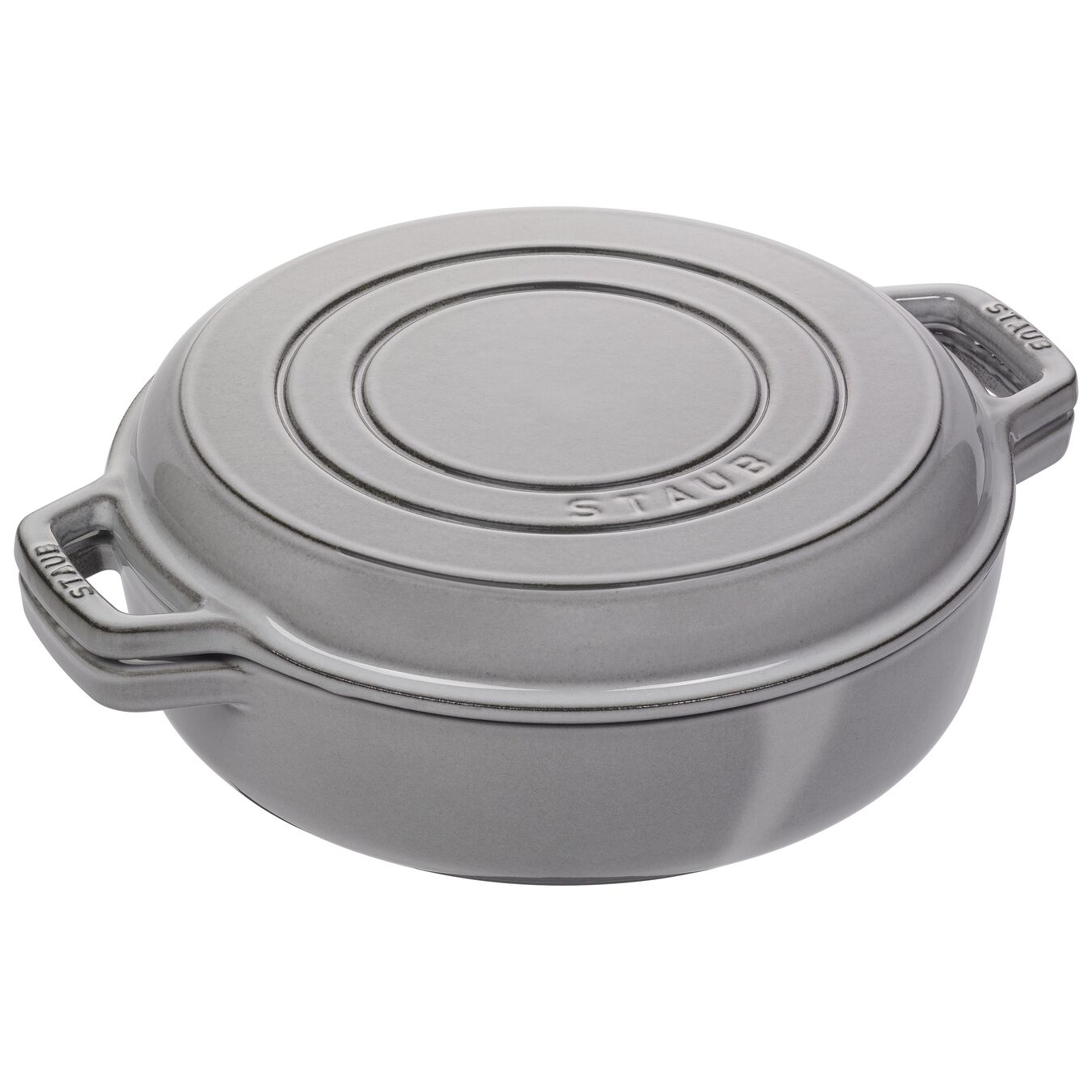 3.5-qt round Braise + Grill, Graphite Grey,,large 1