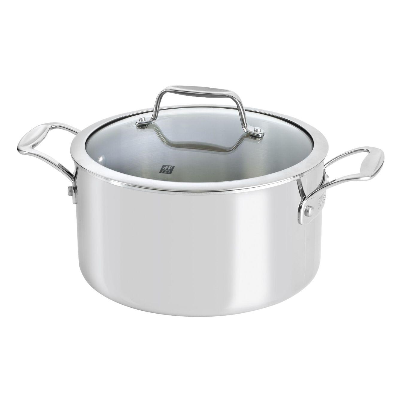 10-pcs 18/10 Stainless Steel Set de casseroles et de poêles,,large 5