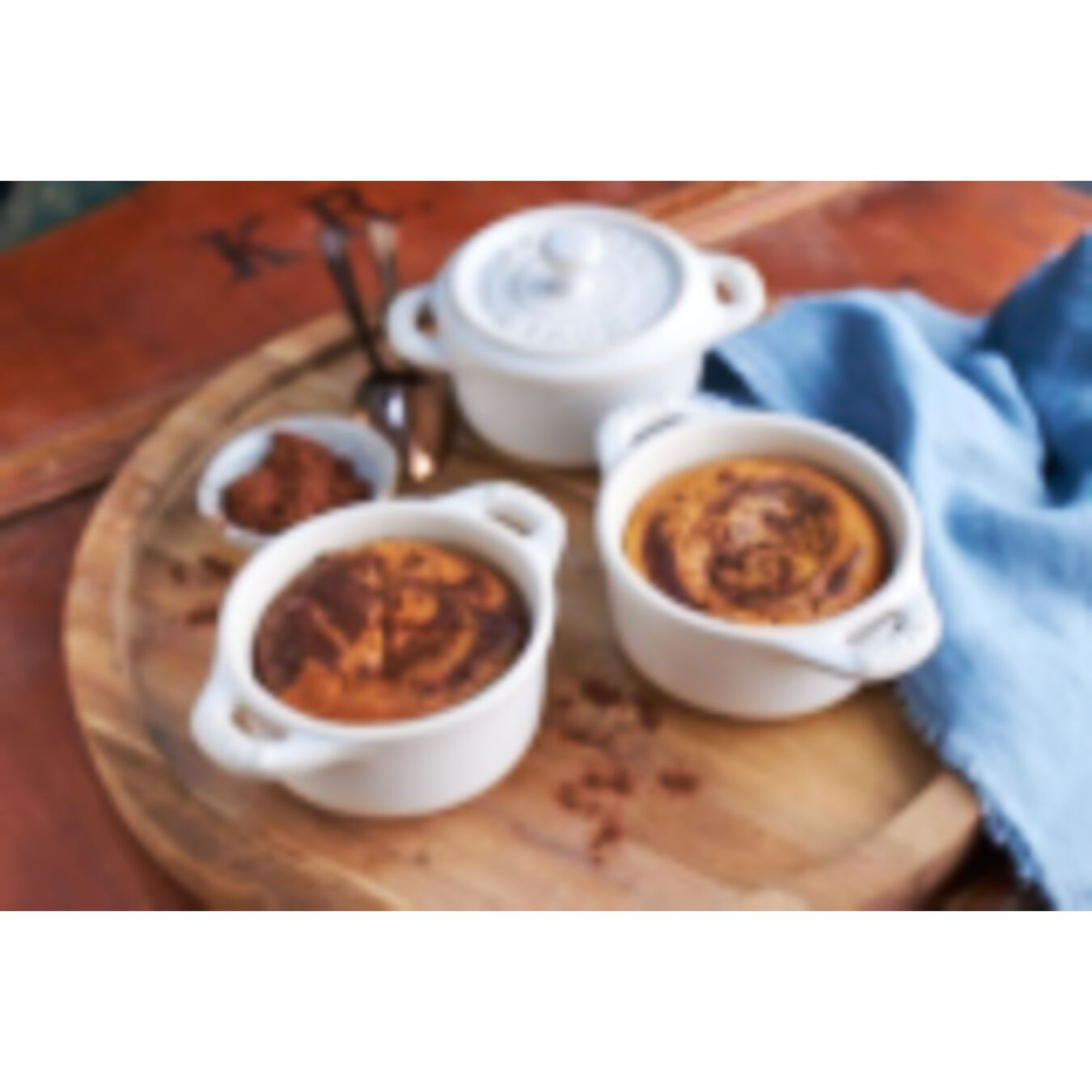 3-pc Mini Round Cocotte Set - White,,large 3