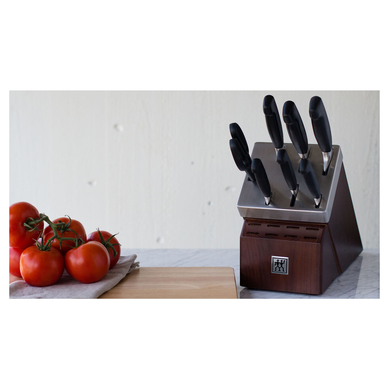 8-pc, Self-Sharpening Knife Block Set , natural,,large 4