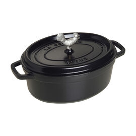 Staub Cast Iron, 4.25-qt Coq au Vin Cocotte - Matte Black