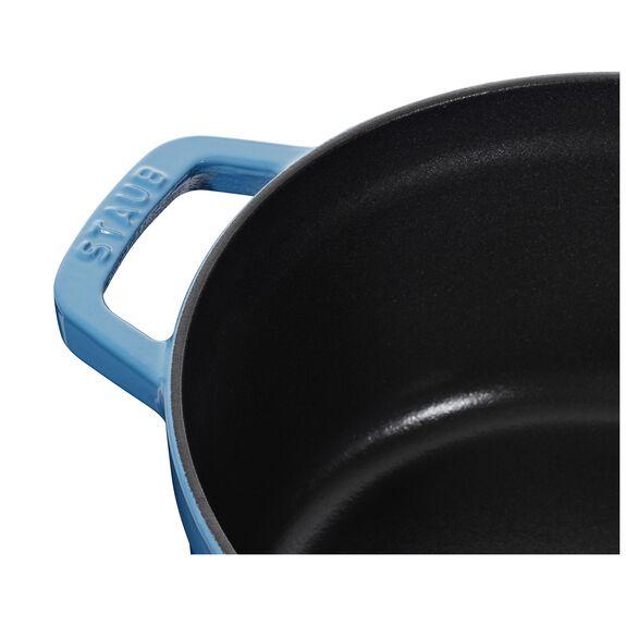 4-qt round Cocotte, Ice-Blue,,large 5