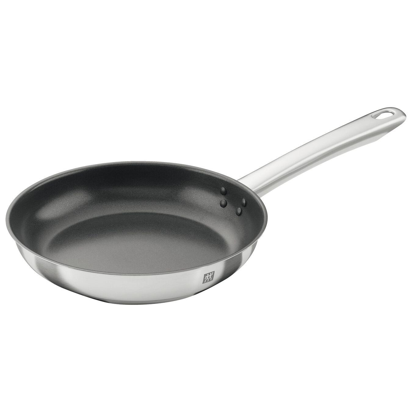 Poêle 20 cm, Inox 18/10, Noir argenté,,large 1
