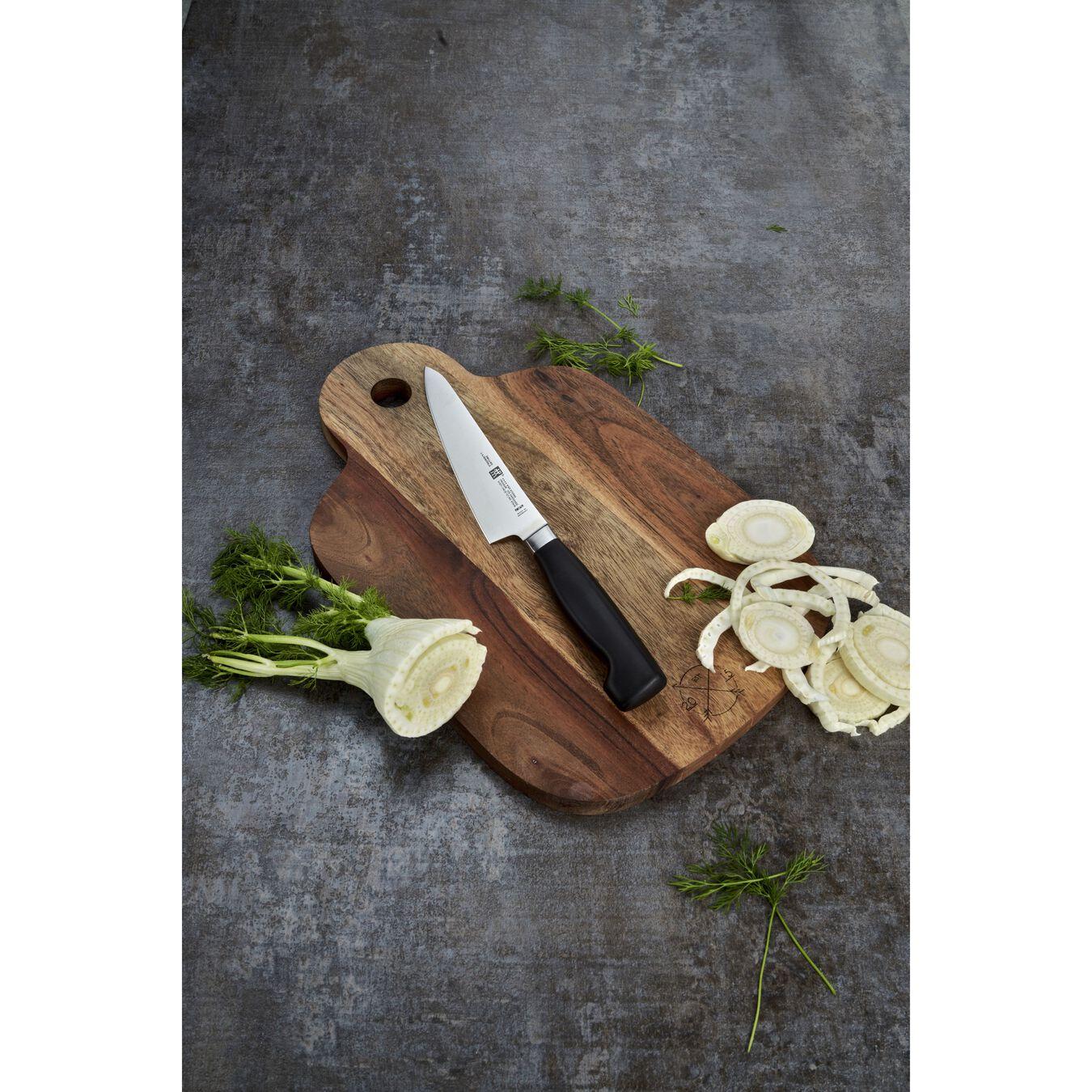 Coltello Chef compact liscio - 14 cm, forgiato, argento,,large 3